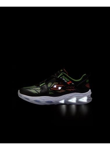 Skechers Vortex-Flash - Denlo Büyük Erkek Çocuk Siyah Yeşil Spor Ayakkabı 400031L BKLM Siyah